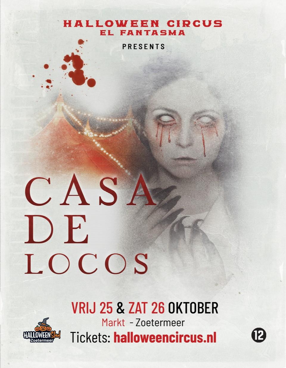 Poster Halloween Circus El Fantasma Casa de Locos op Circusweb